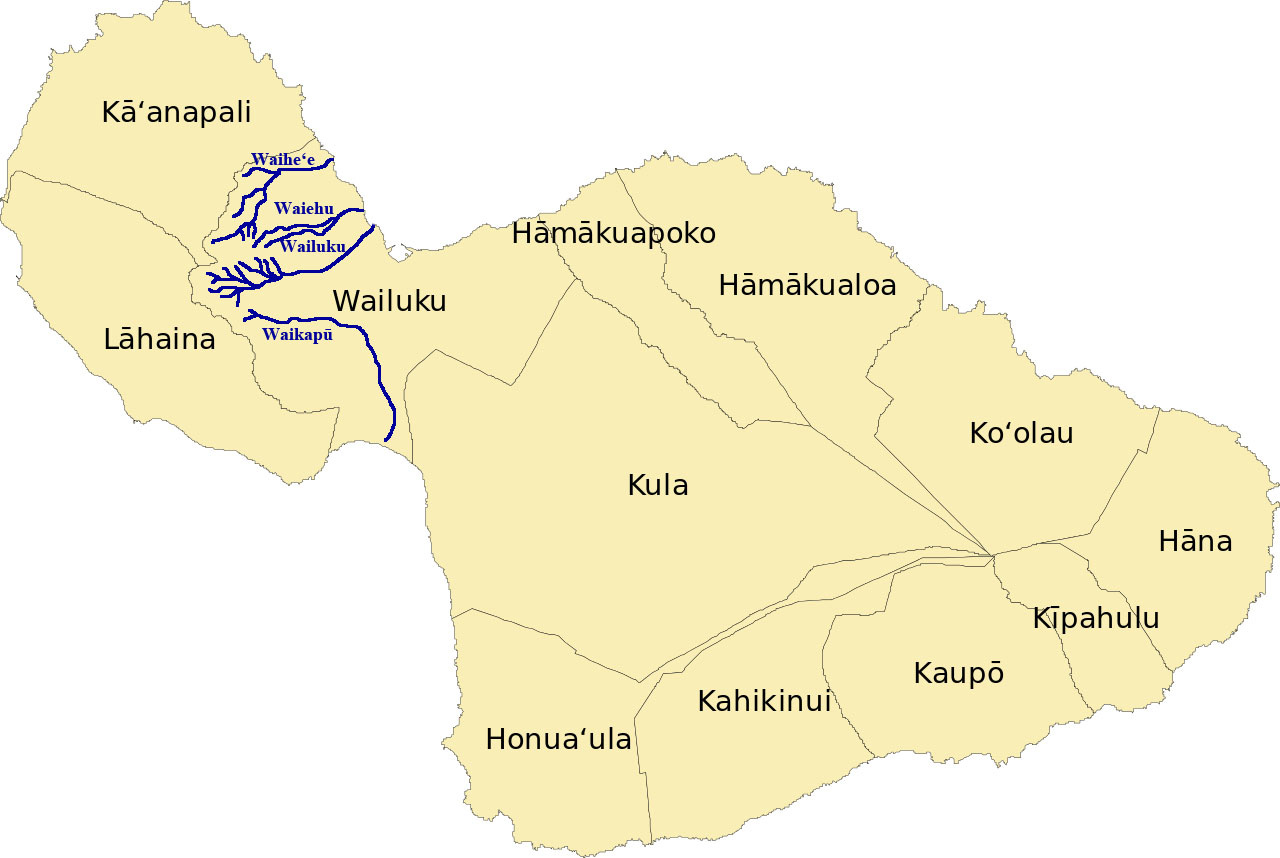 [Nā Wai ʻEhā] The four waters of Maui.