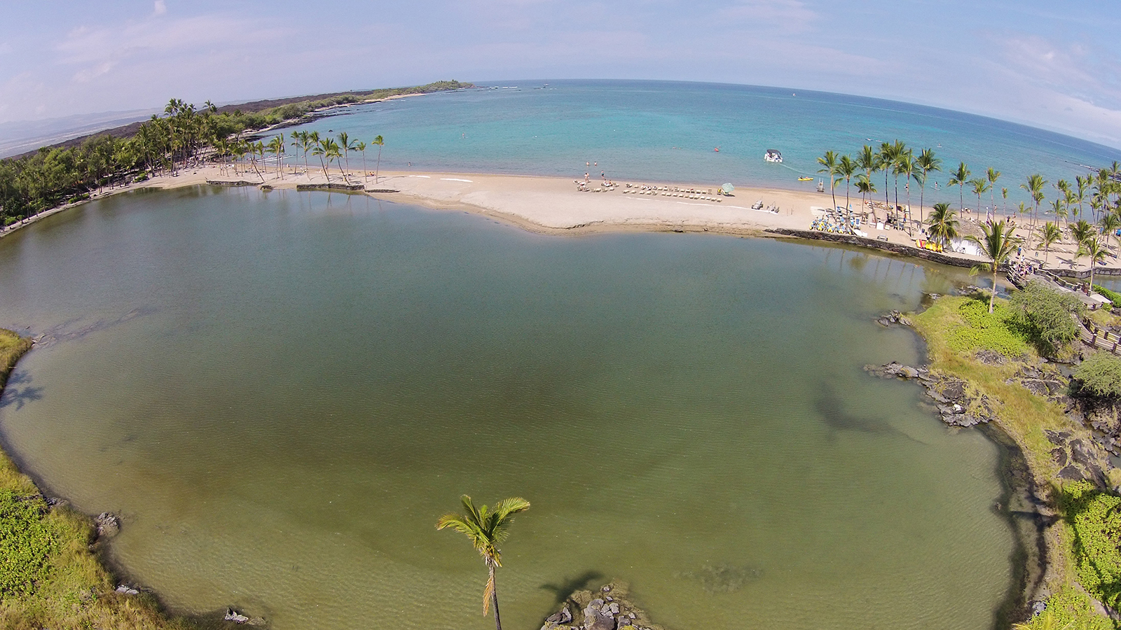 [ʻAnaehoʻomalu Bay fishponds] Photo by Kyle Hawton.