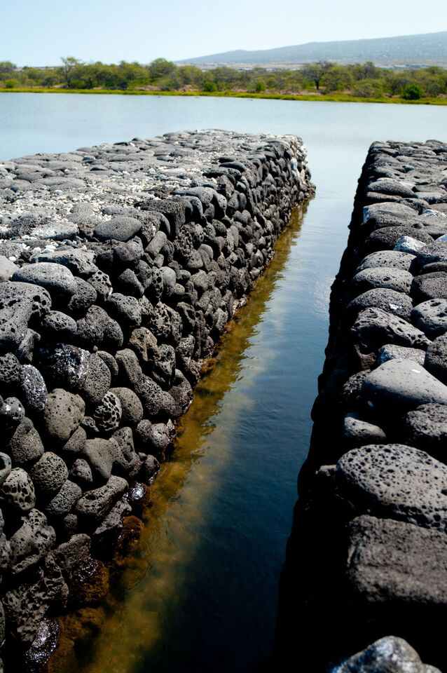 [Loko iʻa wall at Kaloko-Honokōhau] Photo by Ruben Carillo.