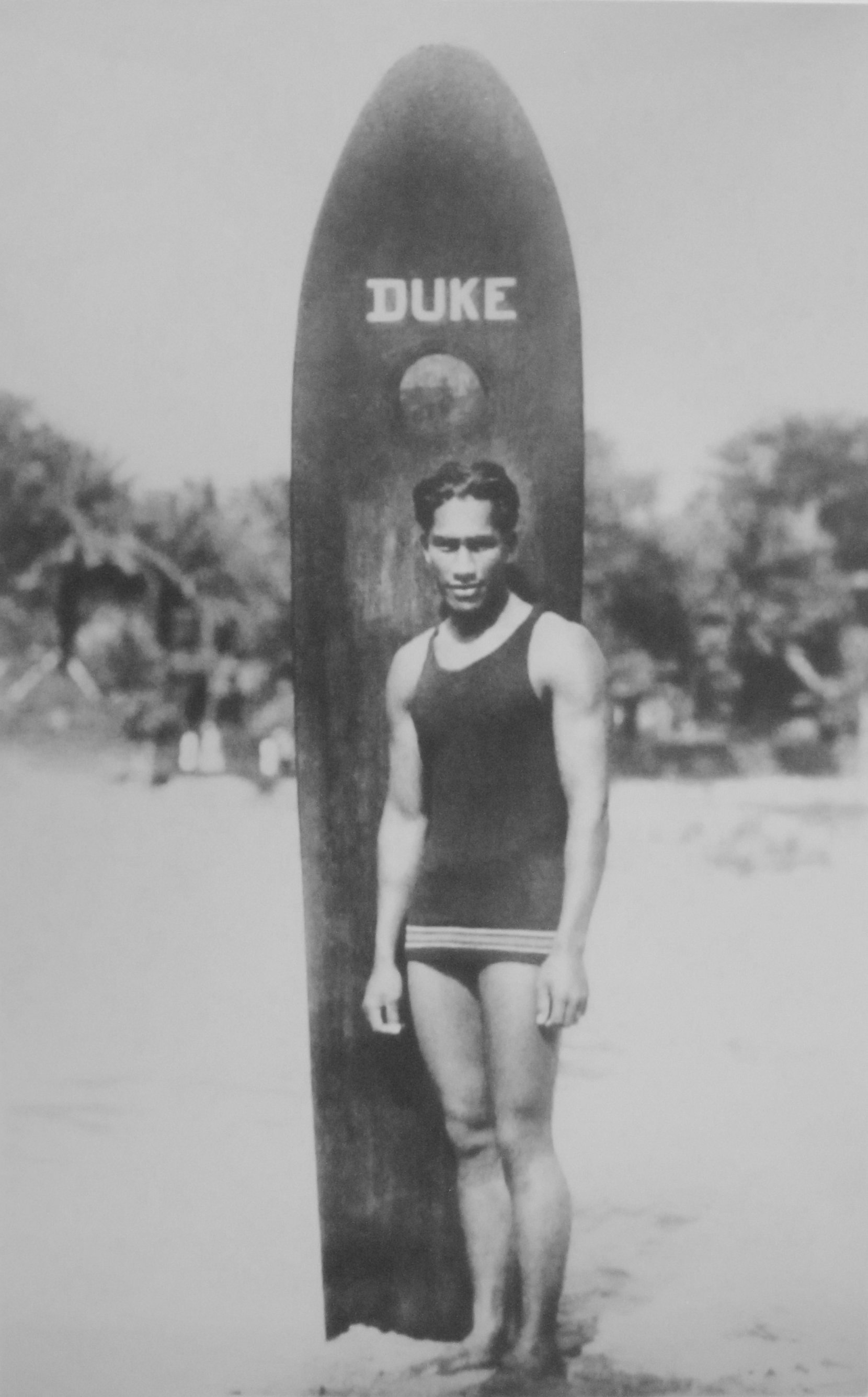 [Duke Kahanamoku] US Olympic gold medalist. Photographer unknown.