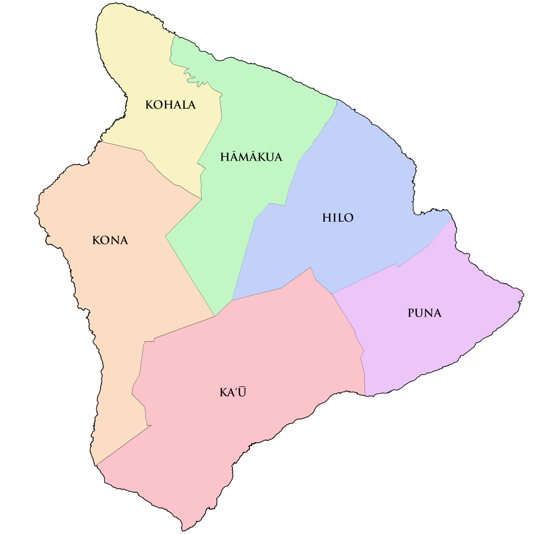 Kohala Hawaii Map.Big Island Hikes
