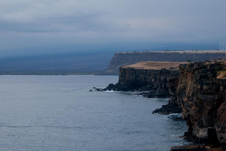 [South Point cliffs, Kaʻū] Photo by Ruben Carillo.