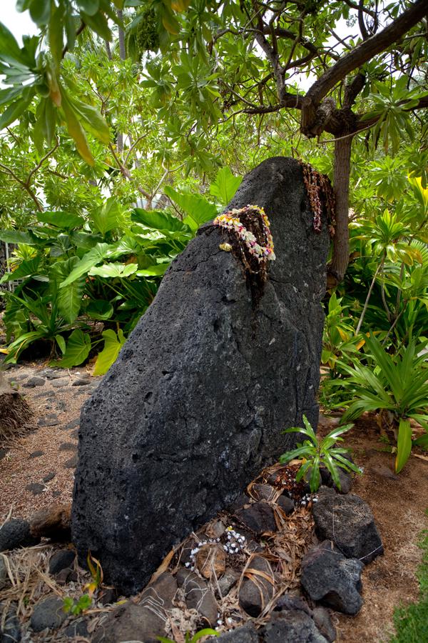 [Stone altar] ʻUla stone altar at Keauhou, Hawaiʻi. Photo by Ruben Carillo. © Kamehameha Schools.