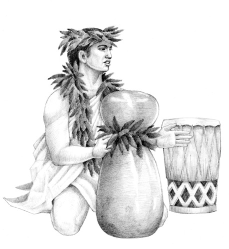 [Hoʻopaʻa] Artwork by R. Y. Racoma.