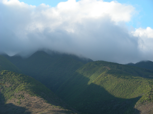 [Clouds over Molokaʻi] Photo by Kristina D. C. Hoeppner.