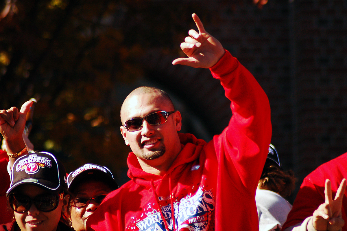 [Shane Victorino] World Series champion. Photo by Matthew Crowne.
