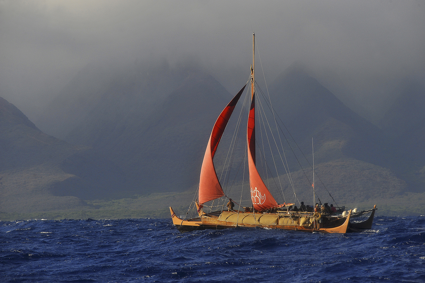 [Hōkūalakaʻi] Deep-sea voyaging canoe.
