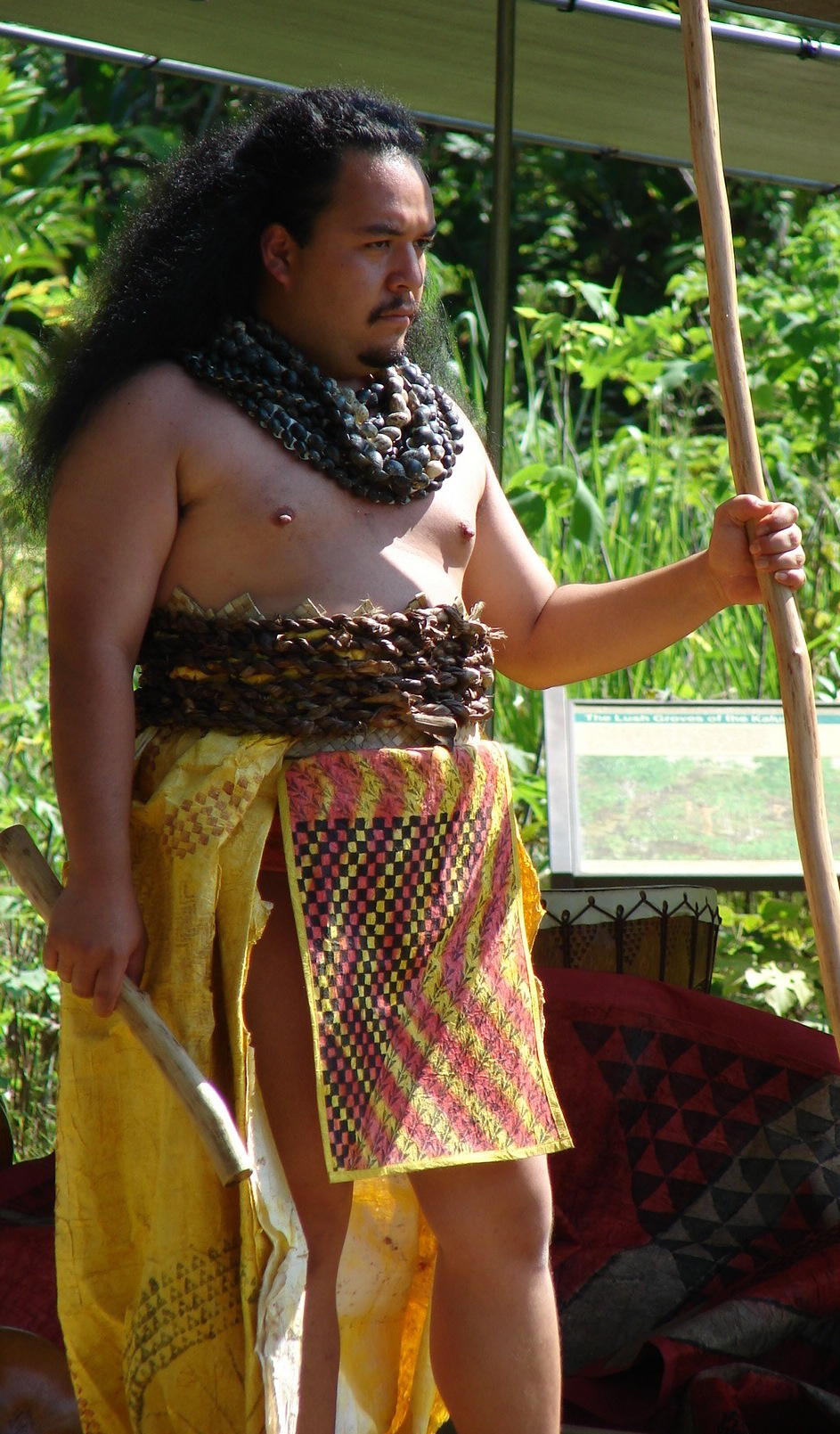 [Full kapa] Kumu Micah Kamohoaliʻi in full kapa. Photo by Micah Kamohoaliʻi.