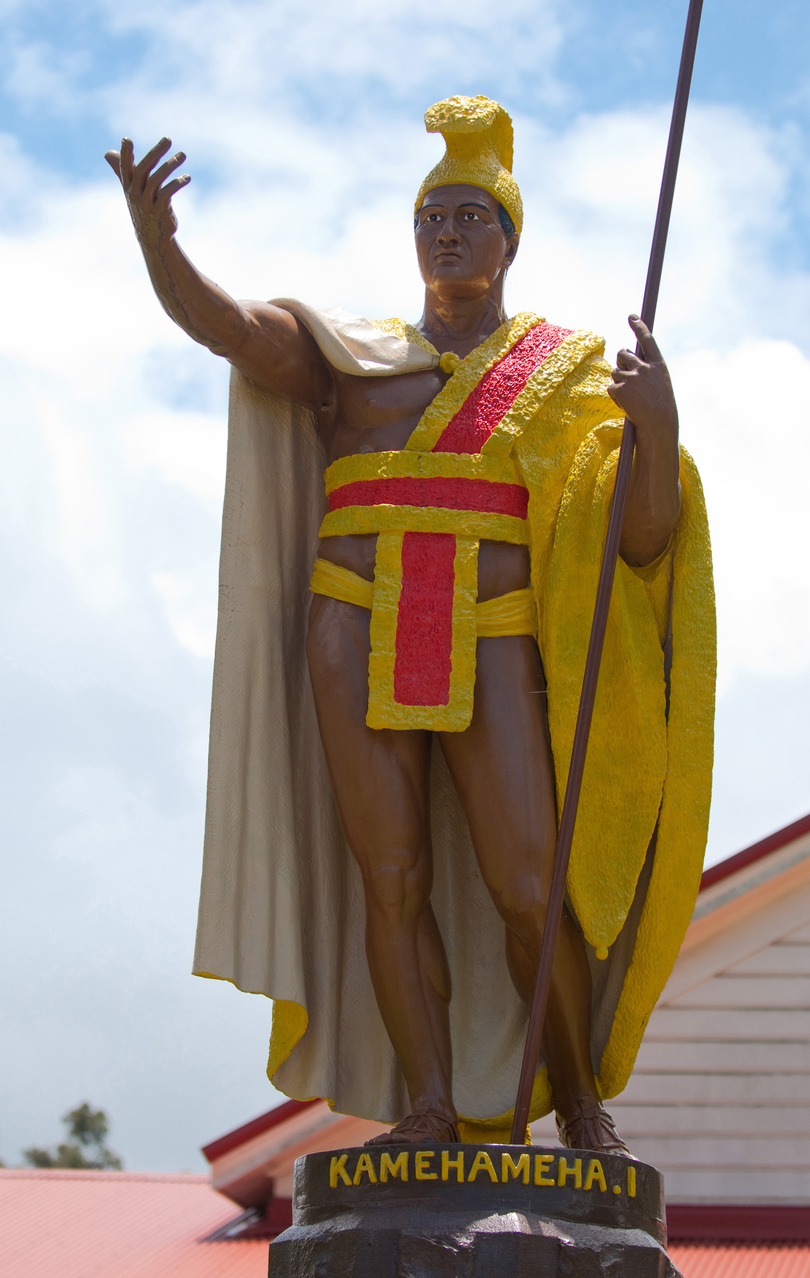 [Kamehameha] Kamehameha statue in Kohala. Photo by Ruben Carillo.