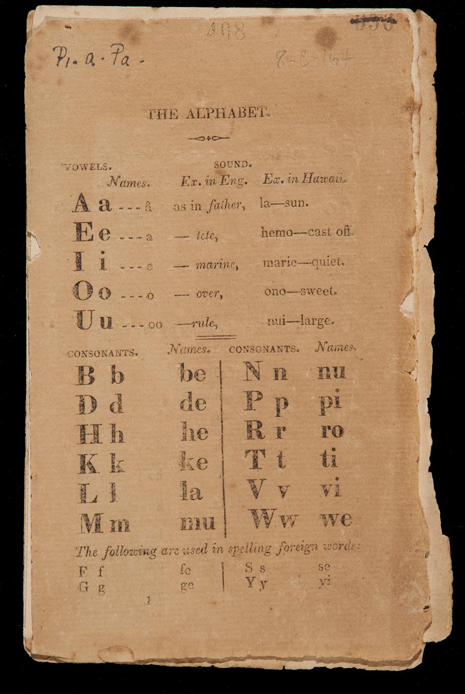 [The Alphabet] Spelling book. Photo by David Franzen.