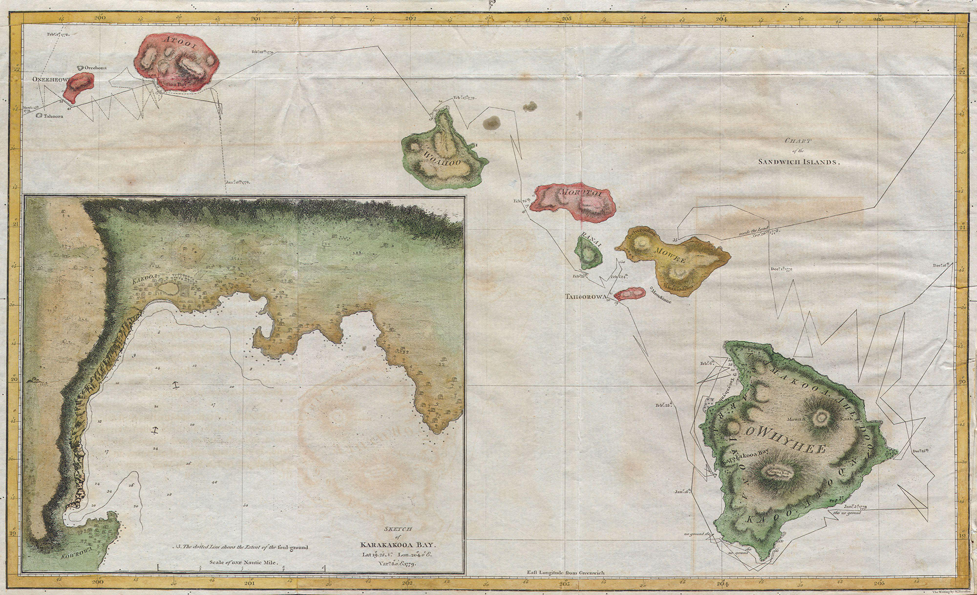 [Chart of the Sandwich Islands] By G. Nicol and T. Cadell.