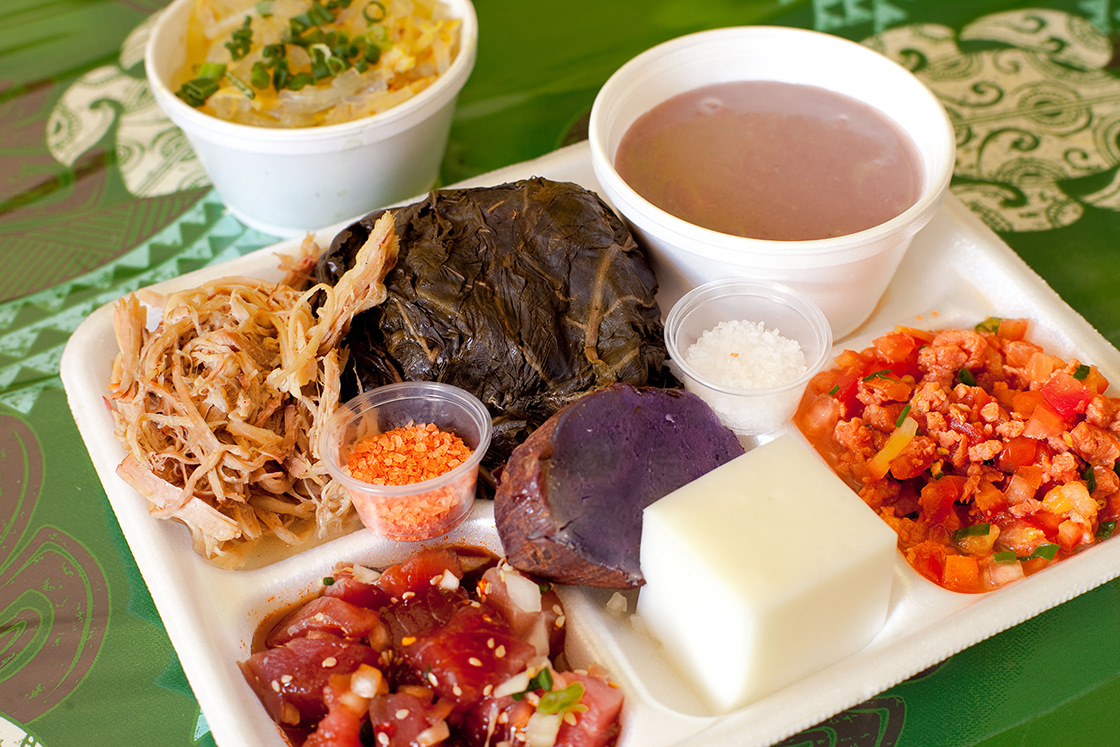 [Hawaiian food plate] Photo by Ruben Carillo.